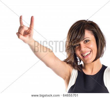 girl doing obscene gesture