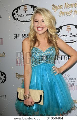 LOS ANGELES - APR 27:  Brooke Sorenson at the Ryan Newman's Glitz and Glam Sweet 16 birthday party at Emerson Theater on April 27, 2014 in Los Angeles, CA