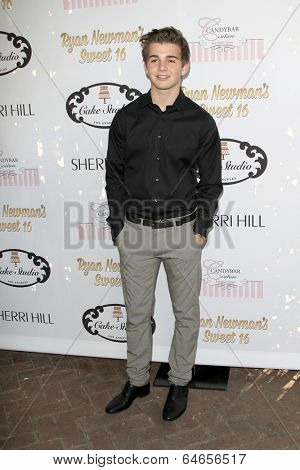 LOS ANGELES - APR 27:  Jack Griffo at the Ryan Newman's Glitz and Glam Sweet 16 birthday party at Emerson Theater on April 27, 2014 in Los Angeles, CA