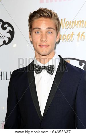LOS ANGELES - APR 27:  Austin North at the Ryan Newman's Glitz and Glam Sweet 16 birthday party at Emerson Theater on April 27, 2014 in Los Angeles, CA