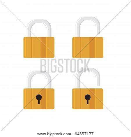 Locks icons on white background.