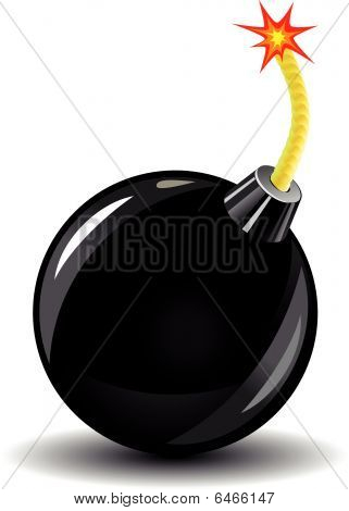 Glossy bomb icon