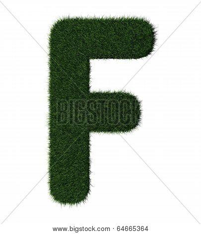 Grass alphabet-F