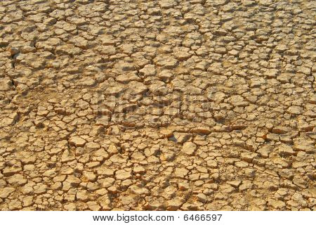 Dry Zayanderood River In Esfahan - Iran. Dry Ground