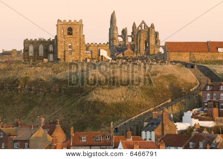 Whitby Abbey And Saint Mary's Church