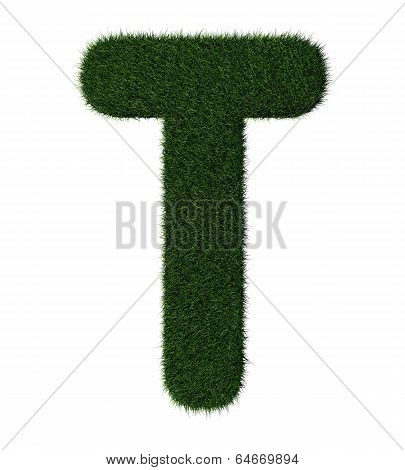 Grass alphabet-T