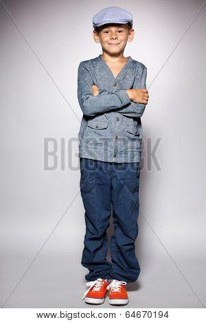 Fashion mod child at studio