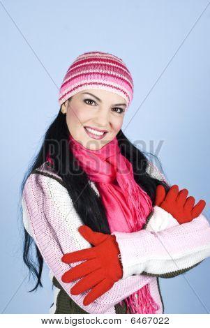 Beautiful Smiling Winter Woman