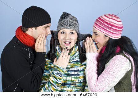Friends Telling Secrets