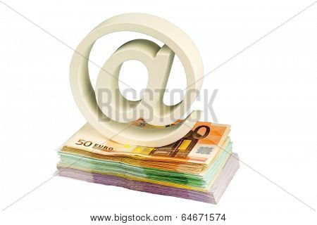 spider monkey and banknotes, symbolic photo for it costs and copyright fees