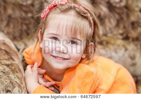 Adorable Smiling Little Girl