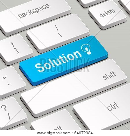 Solution Concept With Computer Keyboard
