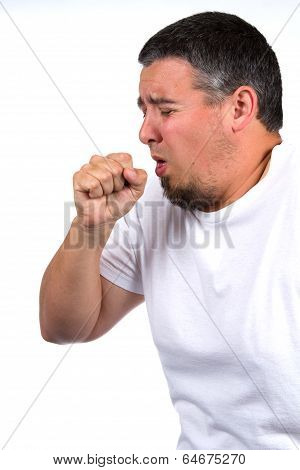 Man Coughing In Fist