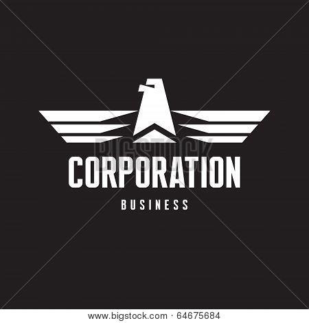 Corporation Business - Eagle Logo Sign