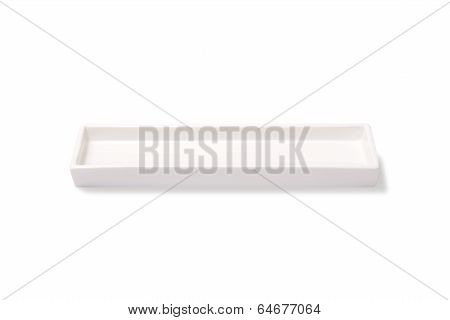 Empty rectangular plate