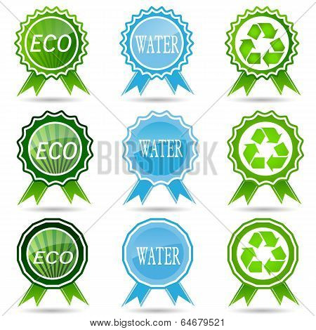Eco Labels With  Design.