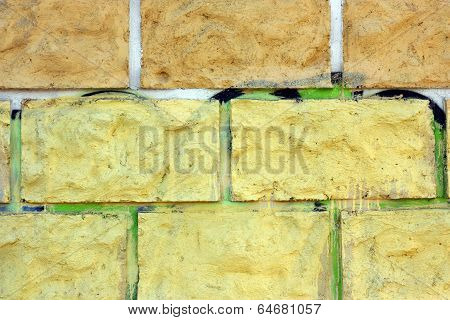 Part Of A Brick Wall As Texture