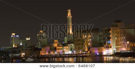 Dubai Creek In Night