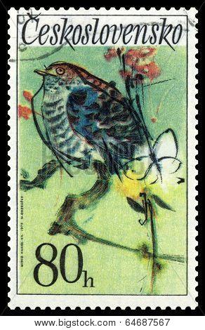 Vintage  Postage Stamp. Cuckoo.