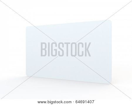 template of a blank envelope on white