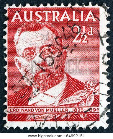 Postage Stamp Australia 1948 Ferdinand Von Mueller, Botanist