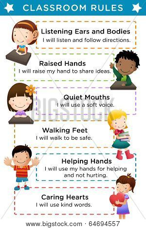 Classroom Rules with Text