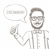 image of recommendation  - Hipster Recommend This - JPG
