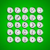image of arabic numerals  - Arabic alphabet  typography design for all kind use - JPG