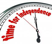 Time for Independence Words Clock Self Reliance  poster