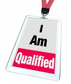 picture of credential  - I am Qualified Badge Licensed Certified Professional - JPG
