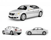 pic of three-dimensional-shape  - Three Dimensional Image of White Car - JPG