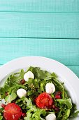 picture of sesame seed  - Green salad made with  arugula - JPG