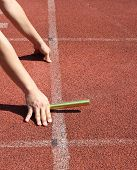 picture of relay  - Ready Set on  Starting Line Relay baton - JPG