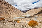 pic of manali-leh road  - Himalayas landscape road between Manali and Leh India - JPG
