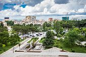 picture of albania  - Panorama view to the city Tirana Albania - JPG
