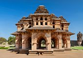 image of vijayanagara  - Beautiful Lotus Temple in Hampi Karnataka India - JPG