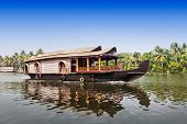 foto of alleppey  - Beauty boat in the backwaters Kerala India - JPG