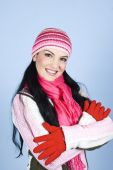 Beautiful Smiling Winter Woman
