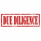 foto of diligent  - Grunge rubber stamp with text Due Diligence - JPG