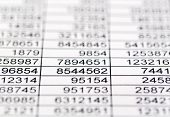 stock photo of depreciation  - a table with the figures of revenue and expenditure - JPG