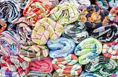 stock photo of loincloth  - Colorful loincloth fabric background  - JPG