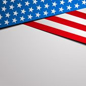 stock photo of special occasion  - detailed illustration of a stylized patriotic stars and stripes background - JPG