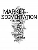 picture of market segmentation  - Word Cloud with Market Segmentation related tags - JPG