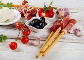 stock photo of antipasto  - italian appetizer  - JPG