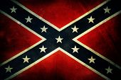 stock photo of flag confederate  - Closeup of grungy Confederate flag - JPG