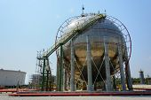 foto of lng  - Natural Gas Tank in petrochemical plant at thailand - JPG