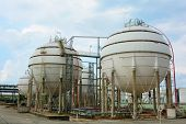 stock photo of lng  - Natural Gas Tank  in petrochemical at thailand - JPG