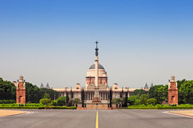 stock photo of rashtrapati  - Rashtrapati Bhavan is the official home of the President of India