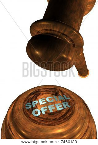 Gavel with SPECIAL OFFER