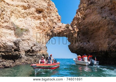Boat Trip To The Sea Caves In Lagos